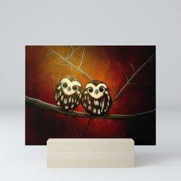 Baby Owls Mini Art Print