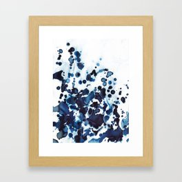 Large waves and sea spray. Framed Art Print