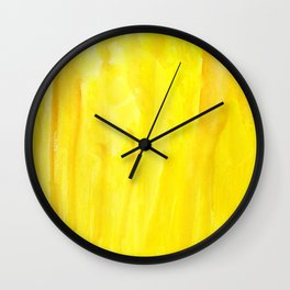 Yellow no. 1 Wall Clock