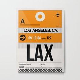 LAX Los Angeles Luggage Tag 2 Metal Print