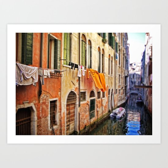 wash day in Venice Art Print
