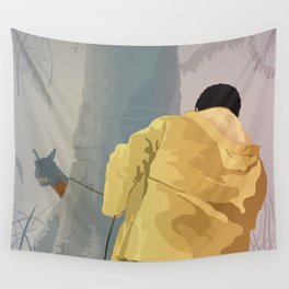 Jurassic Park - Dennis and the Dilophosaurus Wall Tapestry
