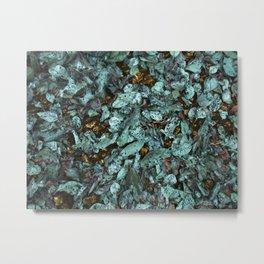 Patina Leaves Metal Print