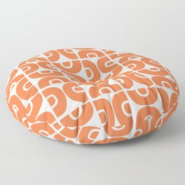 Groovy Mid Century Modern Pattern Orange Floor Pillow