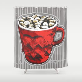 Hot Cocoa  Shower Curtain