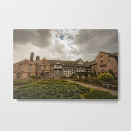 Cloudy Spring Day in an Old English Yard Metal Print