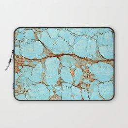 Rusty Cracked Turquoise Laptop Sleeve