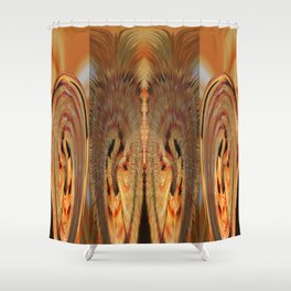 Strawberry Floral Flipped And Fluffed v.4 Shower Curtain