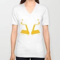 gundam V-neck T-shirts featuring Gundam UC Tee (Banshee) by Kenjken