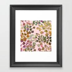 pink nature garden Framed Art Print