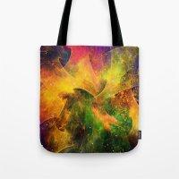 blanket Tote Bags featuring Blanket of Stars by Klara Acel