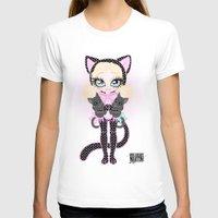 akira T-shirts featuring Kitty Akira by Miss Cherry Martini
