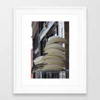 hats Framed Art Prints featuring Hats by Jean Marshall Art -From California