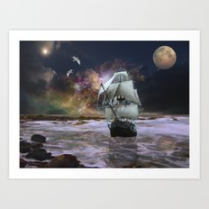 Her Guiding Star Art Print