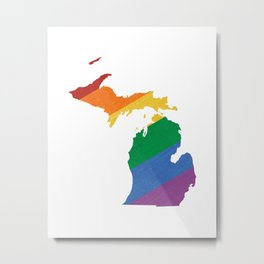 Michigan Pride Metal Print