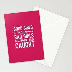 Good Girls Funny Quote Stationery Cards