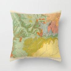 Vintage Southwest Map Throw Pillow