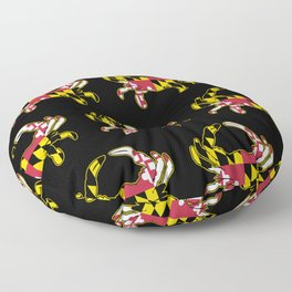 Maryland Flag Crab Floor Pillow