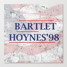Bartlet and Hoynes '98 Canvas Print