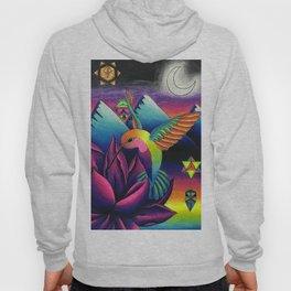 Lunar Hummingbird and Lotus Hoody