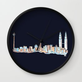 Kuala Lumpur - Midnight Version Wall Clock