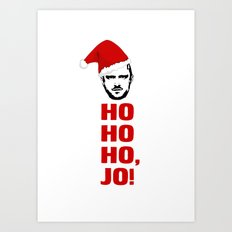 HO HO HO, JO! Breaking Bad Christmas Card Jesse Pinkman Art Print