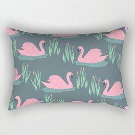 Pink Swans Rectangular Pillow