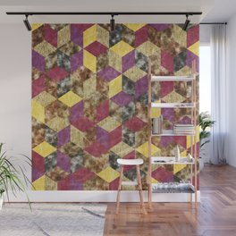 Colorful Isometric Cubes VII Wall Mural
