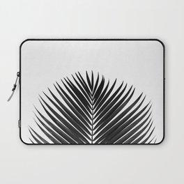 BLACK LEAVES ON WHITE Laptop Sleeve