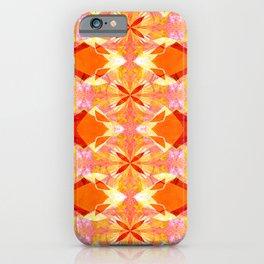 Retro Floral Fractal Sunburst iPhone Case