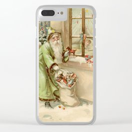 Santa Claus at the Window Clear iPhone Case
