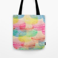 macaroon Tote Bags featuring Macaroon Madness by Tyler Spangler