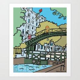 My Cute Paris Bridge Art Print