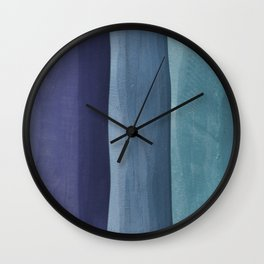 Blue Gradient on Wood Wall Clock