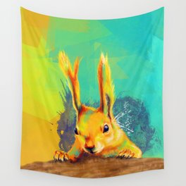 Tassel-eared Squirrel Wall Tapestry