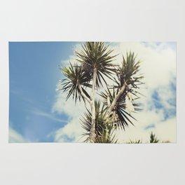 Tilt and Shift Penzance Palm tree Rug