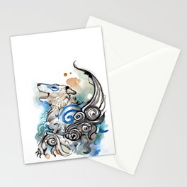 Blue Okami Amaterasu Stationery Cards