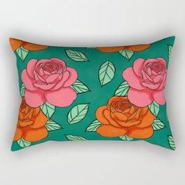 Peonies & Leaves Rectangular Pillow