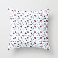 crab Throw Pillows featuring Crab by Ewelina Gaska