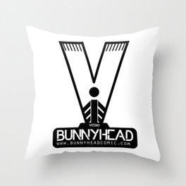 BUNNYHEAD WHITE Throw Pillow