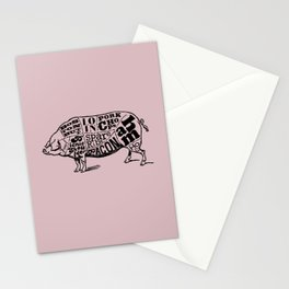 Pig Cuts Stationery Cards