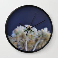 fluffy flower Wall Clock
