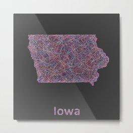 Iowa Metal Print