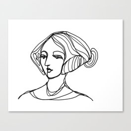 Portrait of a Woman Canvas Print