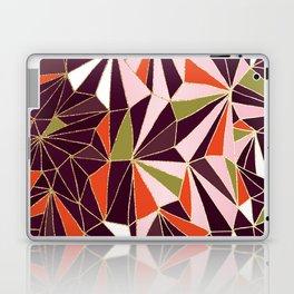 New Art Deco Geometric Pattern - Burgundi and Pink #deco #buyart Laptop & iPad Skin