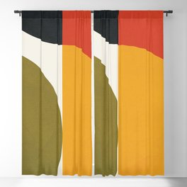Attached Abstraction 10 Blackout Curtain