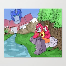Transformers- Prime and Hot Rod Canvas Print