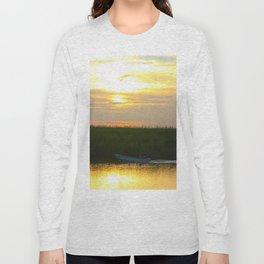 Skiff at Sunset Long Sleeve T-shirt