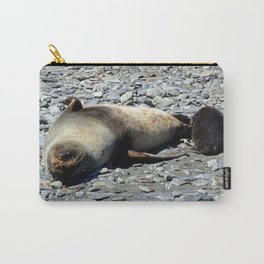 Mother Fur Seal and Pup Carry-All Pouch