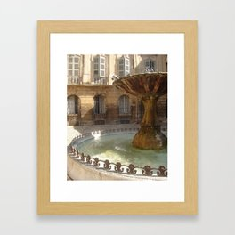 La Fontaine Framed Art Print